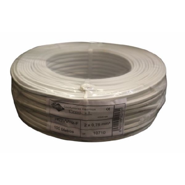 CABLE ELEC 2X0,75MM 100 MT MANG CEMI BL PLANO MP2007.0 C-109399