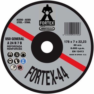 DISCO DESBASTE METAL 178x7x22 MM FORTEX C-19432