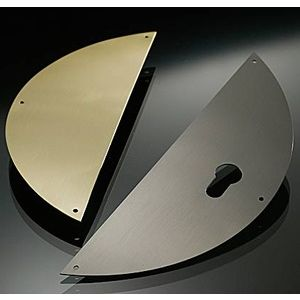 PLACA MEDIA LUNA 300/SL 80X200MM CIEGA INOX SATINADO